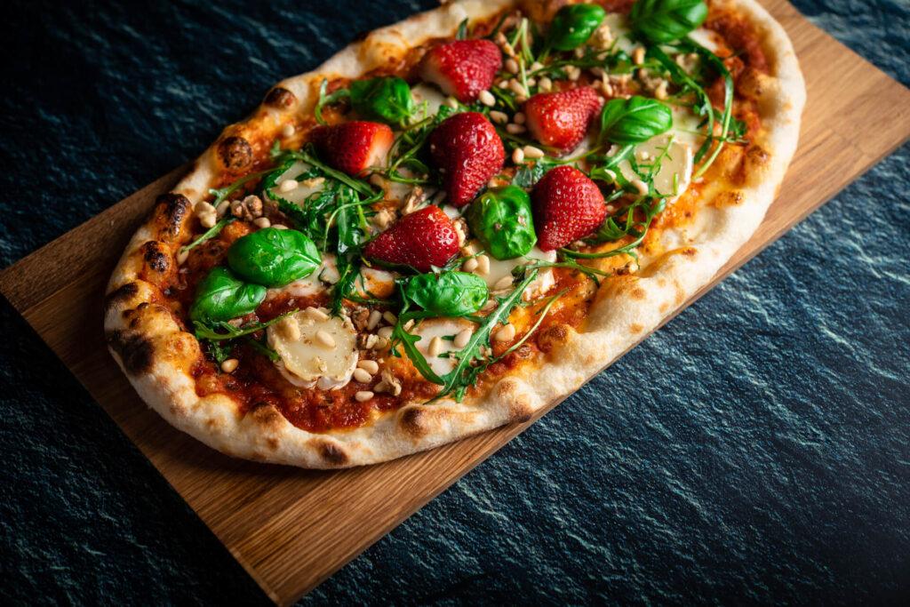 Telli toit - pitsa maasikate ja kitsejuustuga!
